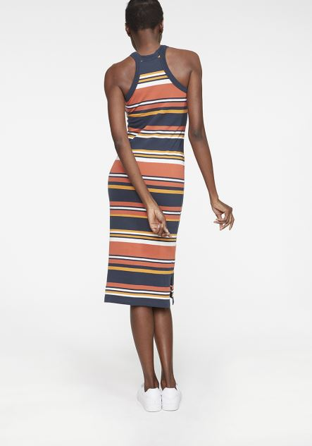 SARAH MULTI STRIPE DRESS MADE OF ORGANIC COTTON MIX